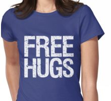 Free Hugs (White) Womens Fitted T-Shirt
