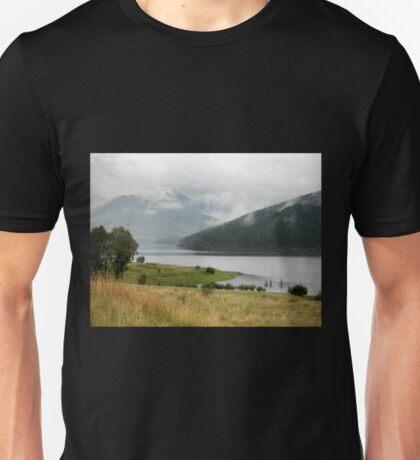 Gathering Rain, Blowering Dam, Southern NSW, Australia.  Unisex T-Shirt