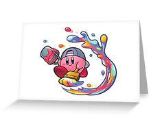 Painting Kirby Greeting Card