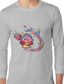 Painting Kirby Long Sleeve T-Shirt