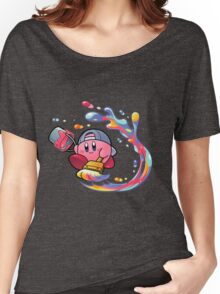 Painting Kirby Women's Relaxed Fit T-Shirt