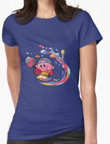 Painting Kirby Womens Fitted T-Shirt
