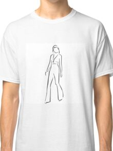Girl posing in fashionable outfit  Classic T-Shirt
