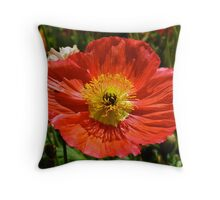 Precious Poppy Throw Pillow
