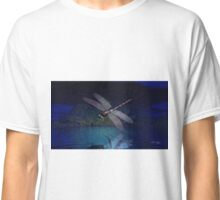 Dragonfly Reflections at Night Classic T-Shirt