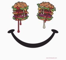 HAPPY FACE HAMBURGER by homopunkdotcom