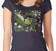 Bright Colorful Butterfly Women's Fitted Scoop T-Shirt