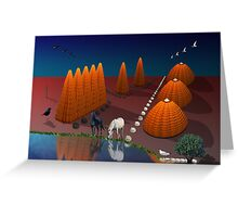 Feminine and Masculine landscape Greeting Card