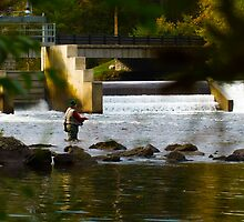 Fly Fishing the Dam by Nazareth