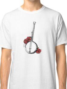 Hipster Banjo & Roses Classic T-Shirt