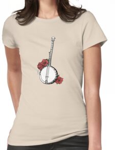 Hipster Banjo & Roses Womens Fitted T-Shirt