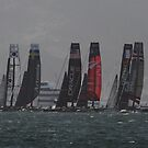San Francisco America's Cup Fleet Racing  by fototaker