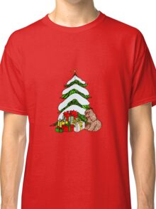 Christmas Tree with Snow Classic T-Shirt