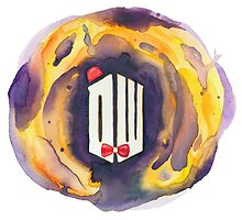 Doctor Who Watercolor Painting by foreverwars