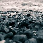 Pebbles on a beach by jamesdt