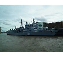 HMS Belfast with German Frigate Augsburg Photographic Print