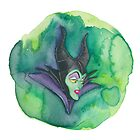 Disney's Sleeping Beauty's Maleficent Watercolor Painting by foreverwars