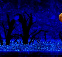 Under the Full Moon, the Dead Trees Dance (in Blue) Sticker