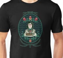 Yule Log Lady (in Green) Unisex T-Shirt