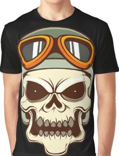 Funny biker skull Graphic T-Shirt