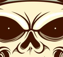 Funny biker skull Sticker