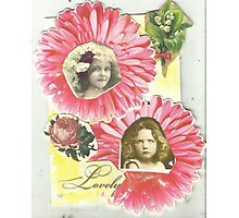 Flower Girls Photographic Print
