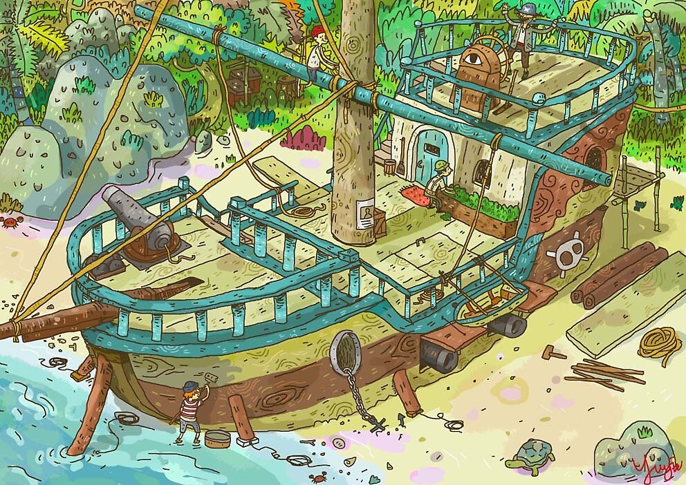 Pirates Boat by Yujin Sick