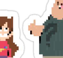 8 Bit Gravity Falls Sticker