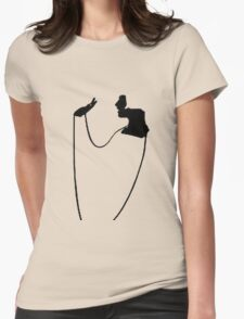 Minimalist Illustration Of Flapper With Necklace T-Shirt