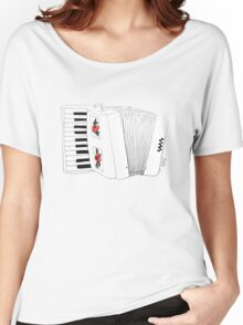 Accordion & Roses Women's Relaxed Fit T-Shirt