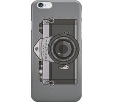 Asahi Pentax 35mm Analog SLR Camera Line Art Graphic Gray iPhone Case/Skin