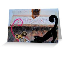 """Nina the little black panther - """"playtime"""" Greeting Card"""