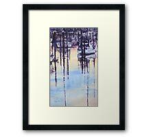 Tranquil evening in marina Framed Print