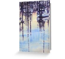 Tranquil evening in marina Greeting Card
