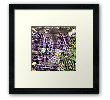 Garbage Collage Framed Print