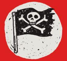 Kid Pirate skull on da moon One Piece - Long Sleeve