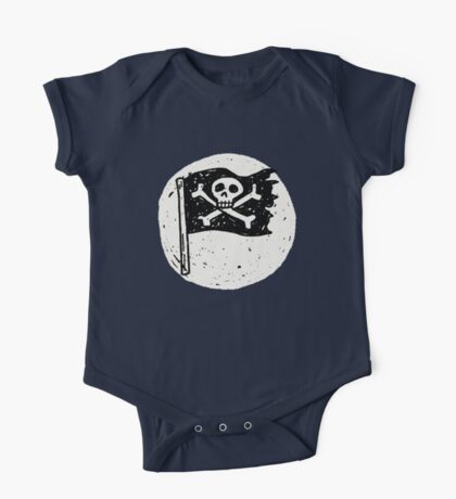 Kid Pirate skull on da moon One Piece - Short Sleeve