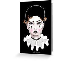 Pierrot - The Sad Clown Greeting Card
