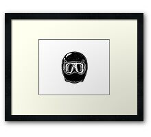 Cool helmet Framed Print