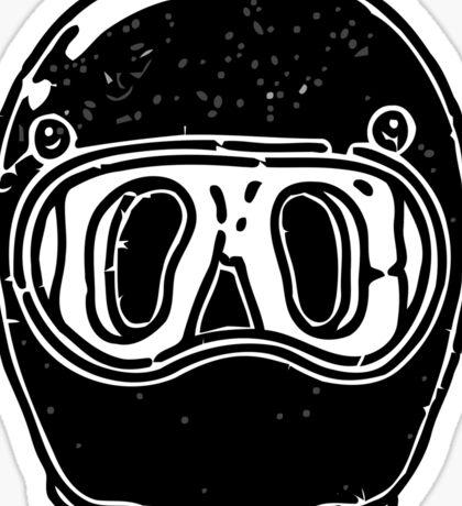 Cool helmet Sticker