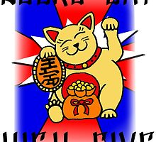Lucky Cat High Five by Carlee Bowles