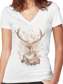 Stag of my Dreams Women's Fitted V-Neck T-Shirt