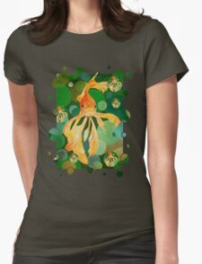 Vermilion Goldfish Swimming In Green Sea of Bubbles T-Shirt