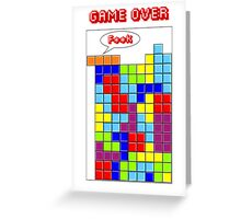 Tetris - GAME OVER Greeting Card