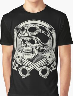Awesome Biker skull Graphic T-Shirt