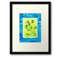SPRING - BRUSH AND GOUACHE Framed Print