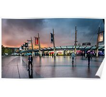Storm clouds gathering over North Greenwich Peninsula Poster