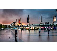 Storm clouds gathering over North Greenwich Peninsula Photographic Print