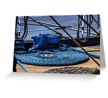 Moored ship Greeting Card