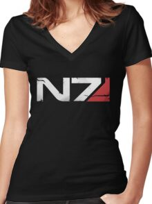 N7 Veteran Women's Fitted V-Neck T-Shirt